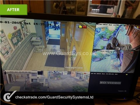 cctv footage from monitor
